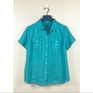 Tommy Bahama Two Palms Short Sleeve Linen Shirt